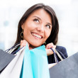 Excited womshopping — Stock Photo #10915613