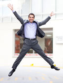 Business man jumping — Stock Photo