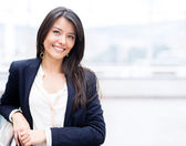 Erfolgreiche business-frau — Stockfoto