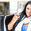 Gorgeous female shopper — Stock Photo