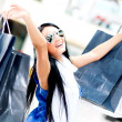 Summer shopping — Stock Photo