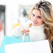 Beautiful female shopper — Stock Photo