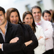 Stock Photo: Business team in a row