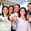 Stock Photo: Business group with thumbs up