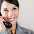 Businesswoman talking on the phone — Stock Photo