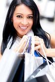 Happy girl shopping — Stock Photo