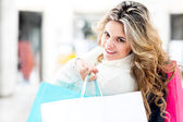 Shopper mujer hermosa — Foto de Stock
