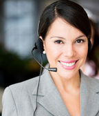 Friendly receptionist — Stockfoto