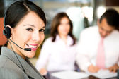 Telemarketing agent — Stock Photo