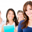Female student with a group — Stock Photo #10985915