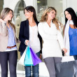 Royalty-Free Stock Photo: Girls shopping