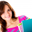 Foto Stock: Womholding notebooks