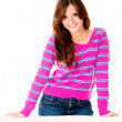 Casual girl smiling — Stock Photo
