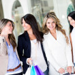 women at the shopping center — Stock Photo