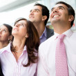 Business team looking up — Stock Photo