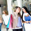 Girls out shopping — Stok Fotoğraf #10986052