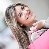 Happy shopping woman — Foto de Stock