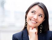 Pensive business woman — Stock Photo