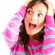 Frustrated woman screaming — Stockfoto