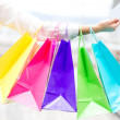 Shopping with debit card — Stock Photo