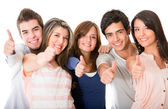 Group of with thumbs up — Stock Photo