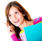 Thoughtful female student — Stock Photo