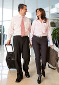 Couple on a business trip — Stock Photo