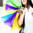 Excited shopping woman — Stock Photo #11029754