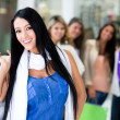 Woman shopping with friends — Stock Photo