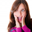 Woman in shock — Stock Photo