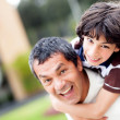 Father and son playing — Stock Photo #11029968