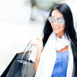 Summer female shopper — Stock Photo