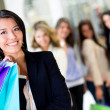 Woman at shopping center — Stock Photo