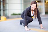 Competitive business woman — Stock Photo
