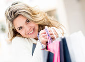 Cute feminino shopper — Fotografia Stock