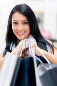 Happy woman shopping — Stock Photo