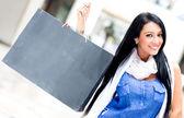 Mujer cartera bolso de compras — Foto de Stock
