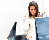 Lässig shopping girl — Stockfoto
