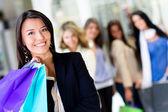 Woman at shopping center — Stock Photo