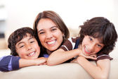 Mother with sons — Stock Photo