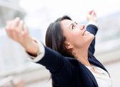 Kobieta sukcesu w biznesie — Zdjęcie stockowe