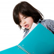 Stock Photo: Little boy studying