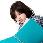 Little boy studying — Stock Photo