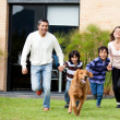 Family running — Stock Photo #11109385