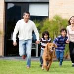Family running — Stock Photo #11109385