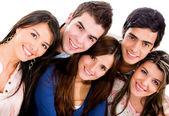 Group of smiling — Stock Photo