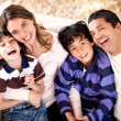 Beautiful Latin family — Stock Photo