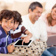 Family loving technology — Stock Photo #11130657