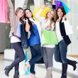 Stock Photo: Happy shopping women