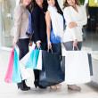 Female friends shopping - Stock Photo